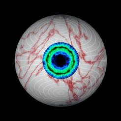 Download free 3D printing designs Free model of a rigged eyeball of meyhem, NadavRock