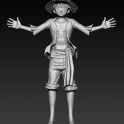 LuffySCLP.png Download OBJ file Luffy One Piece • 3D printable object, Hilero