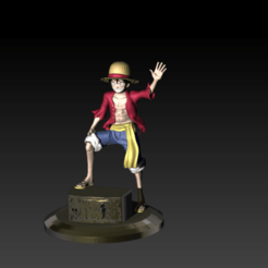 LuffyColorLuz.png Download STL file Luffy One Piece Pose • 3D printing object, Hilero
