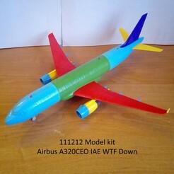 111212 Model kit Airbus A320CEO IAE WTF Down Photo 01m.jpg Télécharger fichier STL 111212 Airbus A320CEO IAE WTF Down • Modèle à imprimer en 3D, sandman_d