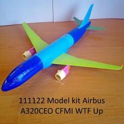111122 Model kit Airbus A320CEO CFMI WTF Up Photo 01wm.jpg Télécharger fichier STL 111122 Airbus A320CEO CFMI WTF Up • Modèle pour impression 3D, sandman_d