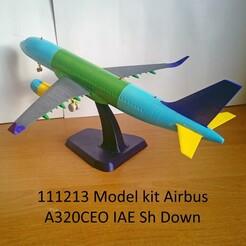 111213 Model kit Airbus A320CEO IAE Sh Down Photo 01m.jpg Télécharger fichier STL 111213 Airbus A320CEO IAE Sh Down • Objet imprimable en 3D, sandman_d