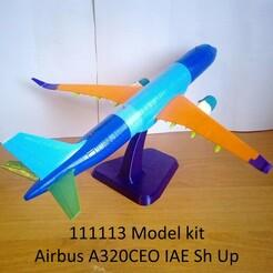 111113 Model kit Airbus A320CEO IAE Sh Up Photo 01wm.jpg Télécharger fichier STL 111113 Airbus A320CEO IAE Sh Up • Plan imprimable en 3D, sandman_d