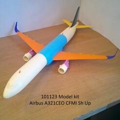 101123 Model kit Airbus A321CEO CFMI Sh Up Photo 01wm.jpg Télécharger fichier STL 101123 Airbus A321CEO CFMI Sh Up • Plan à imprimer en 3D, sandman_d
