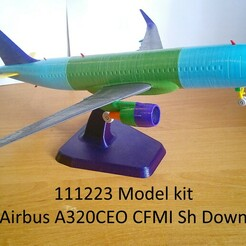 111223 Model kit Airbus A320CEO CFMI Sh Down Photo 01wm.jpg Télécharger fichier STL 111223 Airbus A320CEO CFMI Sh Down • Objet à imprimer en 3D, sandman_d