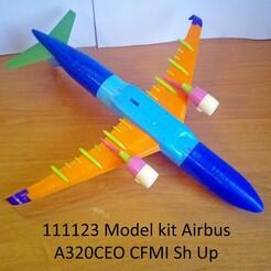111123 Model kit Airbus A320CEO CFMI Sh Up Photo 01wm.jpg Télécharger fichier STL 111123 Airbus A320CEO CFMI Sh Up • Plan à imprimer en 3D, sandman_d
