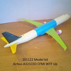 101122 Model kit Airbus A321CEO CFMI WTF Up Photo 01wm.jpg Télécharger fichier STL 101122 Airbus A321CEO CFMI WTF Up • Modèle pour impression 3D, sandman_d