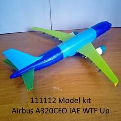 111112 Model kit Airbus A320CEO IAE WTF Up Photo 01wm.jpg Télécharger fichier STL 111112 Airbus A320CEO IAE WTF Up • Objet à imprimer en 3D, sandman_d
