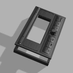 2din antirobo.png Download STL file Anti-theft 2DIN car radio frame. Old radio appearance. • Object to 3D print, masedone6278