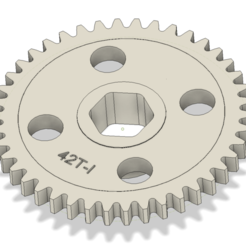 eng1.png Download STL file Gearbox 42 teeth RC • 3D printing object, masedone6278