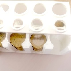IMG_20201015_152302.jpg Download STL file Euro coin organizer - Coin purse • 3D print template, masedone6278