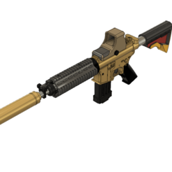 m4a1 1.png Download STL file M4A1 assault rifle NATO ammunition. Assault Rifle • 3D printing model, masedone6278