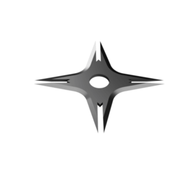 Spear Head Shuriken - Prong design.png Télécharger fichier STL Shuriken ; Shuriken à tête de lance - Conception de la dent • Design imprimable en 3D, adisoday