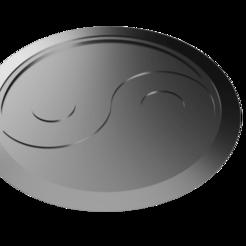 yin yang chakram.png Download STL file Shuriken; Yin Yang Chakram Shuriken • 3D printing design, adisoday