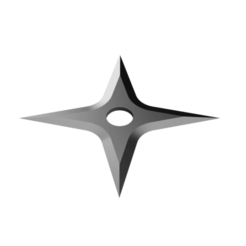Spear Head Shuriken - 4 point head.png Télécharger fichier STL Shuriken ; Shuriken à tête de lance - tête à 4 points • Modèle pour imprimante 3D, adisoday