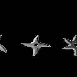 Shark Fin Shuriken Set.png Download STL file Shuriken; Shark Fin Shuriken - Set • 3D printer object, adisoday