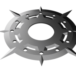 Day Star Chakram.png Download STL file Shuriken; Day Star Chakram Shuriken • 3D print model, adisoday