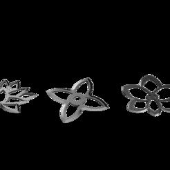 Flower Shuriken Set.png Download STL file Shuriken; Flower Shuriken - Set • 3D printing object, adisoday