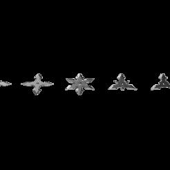 Arrow Head Shuriken Set.png Télécharger fichier STL Shuriken ; Set Shuriken à tête fléchée • Modèle pour impression 3D, adisoday