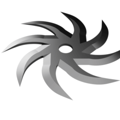 Pin Wheel Shuriken - 8 point head.png Télécharger fichier STL Shuriken ; Shuriken à roue à picots - tête à 8 points • Objet à imprimer en 3D, adisoday