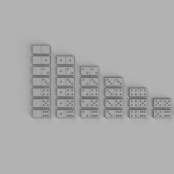 dominos 6 dot set 2.png Download STL file Dominos Double sided 6 dot set • 3D printer design, adisoday