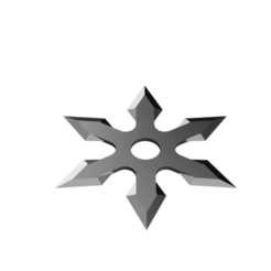 Arrow Head Shuriken - 6 point head.png Télécharger fichier STL Shuriken ; Shuriken à tête fléchée - tête à 6 points • Modèle pour imprimante 3D, adisoday