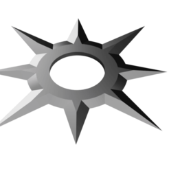 Sun Star Shuriken.png Download STL file Shuriken; Sun Star Shuriken • 3D printing object, adisoday