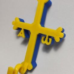 1603020379204.jpg Download STL file Cuelgamascarillas cruz de Asturias • 3D print template, Vetusta_3D