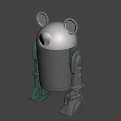 D1M1-1.jpg Télécharger fichier STL Droïde Mickey (D1-M1) • Modèle à imprimer en 3D, geekbot71