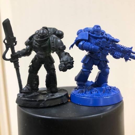 GK primaris comparrison.jpg Download free STL file Primaris Grey Knight squad • 3D printing object, joeldawson93