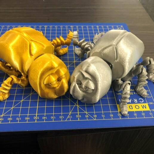 Download free STL file FLEXI BEETLE • 3D printer model, rumble698