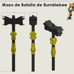 Mazo 1 Cults.jpg Download STL file Autobot Bumblebee Transformers Battle Hammer • 3D printable template, Puro3D
