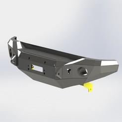 FJ 09.JPG Download STL file TOYOTA FJ CRUISER Offroad Front Bumper • 3D print template, 3dtech-designs