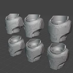 2020-09-16 13_07_35-Window.jpg Download free STL file Iron Warriors Legion Veteran Torsos MK4 • 3D print template, theadditivemanufacturer