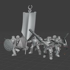2020-09-23 15_02_53-Window.jpg Download free STL file Iron Warriors Legion Command Squad • 3D printing template, theadditivemanufacturer