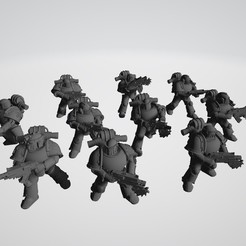 2020-09-14 11_53_51-Legionnaire 8.stl ‎- 3D-Viewer.jpg Download free STL file Tactical Squad of the 4th legion • Object to 3D print, theadditivemanufacturer