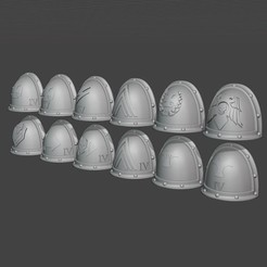 2020-09-17 12_30_08-Blender_ [C__Users_Heiko_Documents_3d-druck_Tabletop_4th legion_Veterans_MK4.ble.jpg Download free STL file Iron Warriors Legion MK2 shoulder pads with tactical markings • Model to 3D print, theadditivemanufacturer