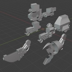 2020-09-28 12_33_21-Blender_ [C__Users_Heiko_Documents_3d-druck_Tabletop_Horus Heresy_Dreadnoughts_M.jpg Download free STL file Close Combat Weapons for MK4 Legion Dreadnoughts • 3D printable object, theadditivemanufacturer