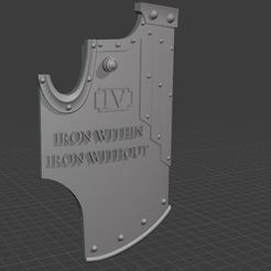 2020-09-19 13_47_29-Blender_ [C__Users_Heiko_Documents_3d-druck_Tabletop_Horus Heresy_Weapons_Boardi.jpg Download free STL file Iron Warriors Boarding Shields • 3D printable model, theadditivemanufacturer