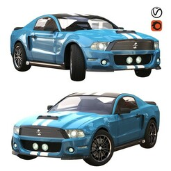 1.jpg Download STL file ford gt 500 sport blue color • 3D print template, unisjamavari