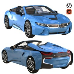 1.jpg Download STL file bmw i8 roadster blue • 3D print object, unisjamavari
