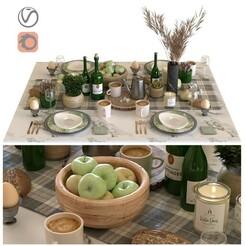 1.jpg Télécharger fichier STL set de table pour le petit déjeuner 001 • Design pour impression 3D, unisjamavari