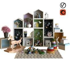 1.jpg Télécharger fichier STL set de décoration pour enfants 001 • Plan imprimable en 3D, unisjamavari