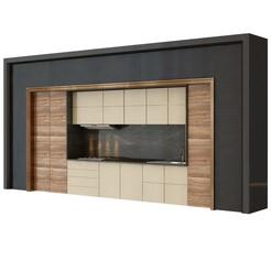 Descargar diseños 3D cocina moderna set 2, unisjamavari