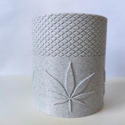 88.jpg Download STL file Cannabis Containment small baby glass jar • 3D printing object, Bobcat_le_Bricoleur