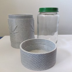 21.jpg Download free STL file Recycled Glass Baby Jar • 3D print model, Bobcat_le_Bricoleur
