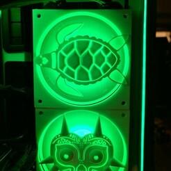 turtlefan.jpg Télécharger fichier STL Turtle 120mm Fan Cover • Modèle pour imprimante 3D, h2o82