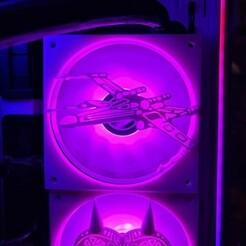 xwingfan1aa.jpg Télécharger fichier STL Star Wars Xwing 120mm Fan Cover • Design pour imprimante 3D, h2o82