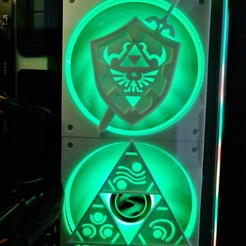 20201205_100732.jpg Download STL file Zelda Shield 120mm Fan cover • 3D print template, h2o82