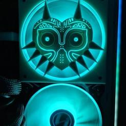 20201103_222816.jpg Download STL file Majora's Mask 120mm Fan cover • 3D print design, h2o82